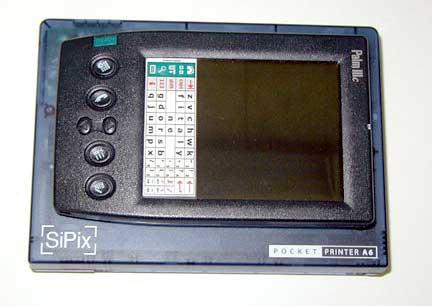 Принтер немногим больше по размеру, чем Palm IIIc