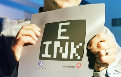 Первый бумагоподобный дисплей E Ink Corporation, совместно с компанией Lucent