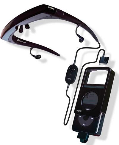 myvu: очки-дисплей для видеоплееров Apple iPod