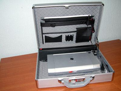 ОПТОКЕЙС. Рабочий кейс торгового представителя - карманный компьютер и мобильный принтер с блоком питания для печати квитанций и бланков заказов