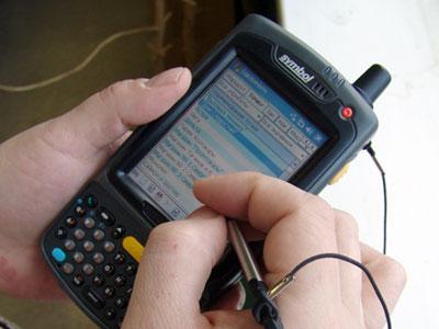 Работа с системой мобильной торговли на индустриальном терминале Symbol